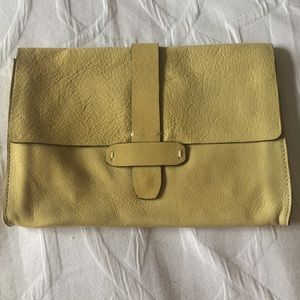 GAP Genuine Leather Yellow Clutch